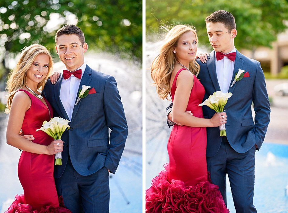 top chicago prom photographer couple posing