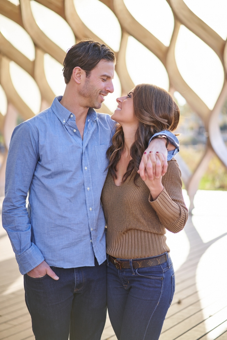 couple hugging during top chicago engagement session