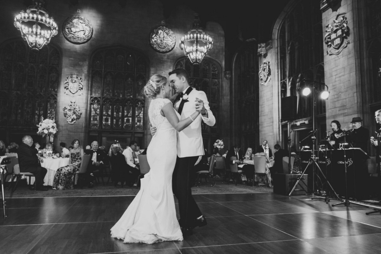 first dance at one the best Chicago wedding venues