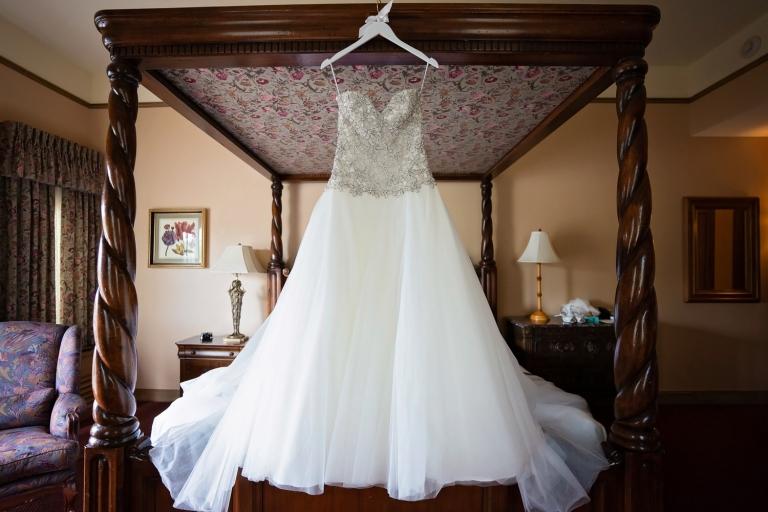wedding dress at the Herrington inn Geneva