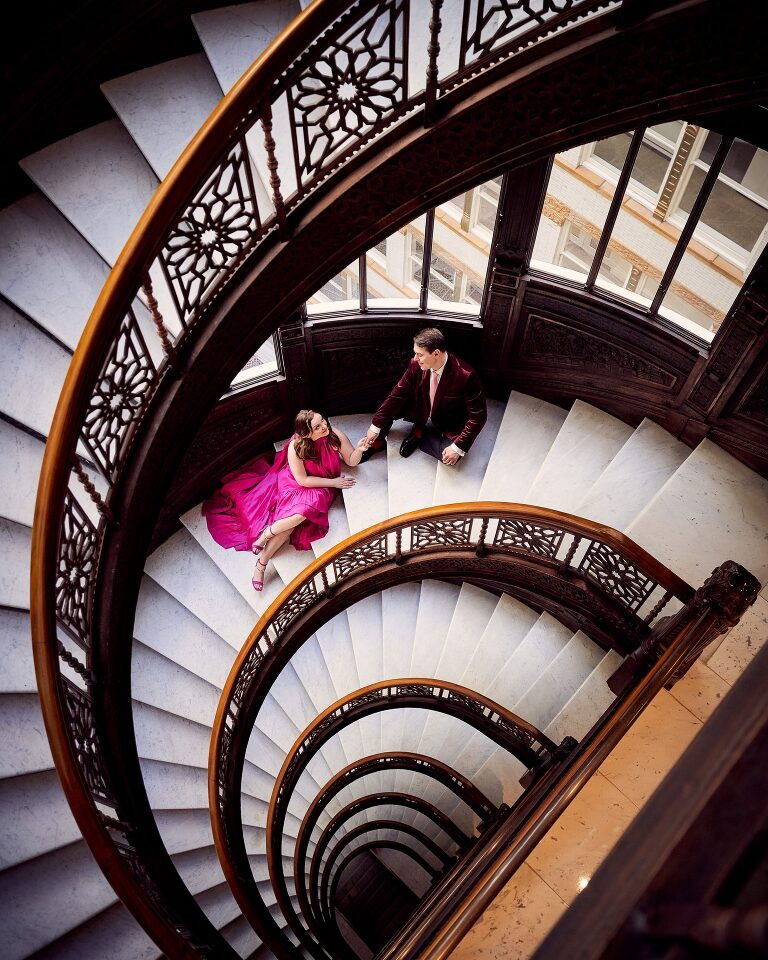 the rookery building engagement wedding session
